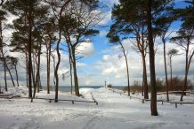 am Weststrand im Winter